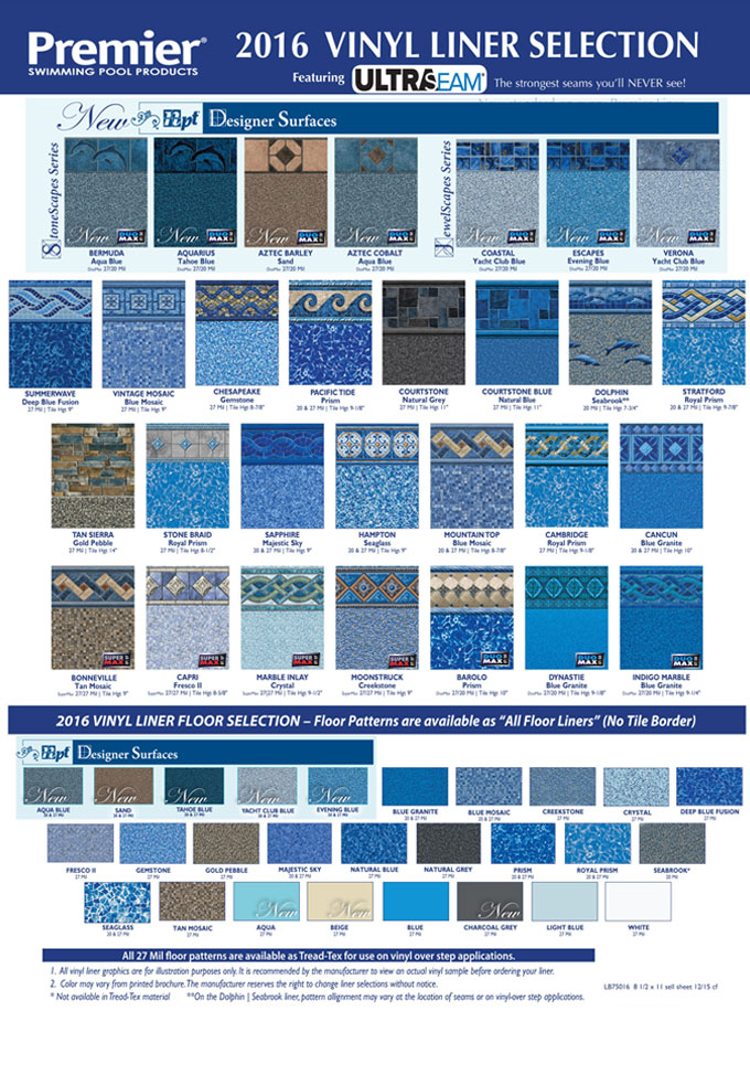 Central Pools And Spas Inground Pool Vinyl Liner