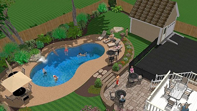 Central pools and spas inground swimming pool builder for Gunite pool design ideas
