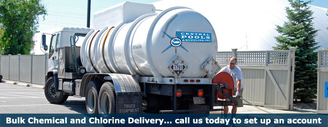 Central pools and spas pool chlorine and chemical delivery for Bulk water delivery for swimming pools