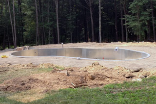 Backfill and grading complete
