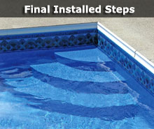 have us install a wedding cake style step - Above Ground Wedding Cake Pool Steps